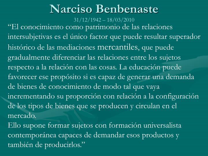 Narciso Benbenaste