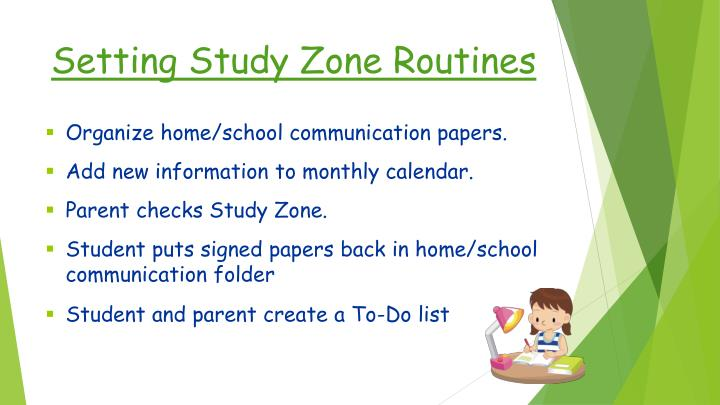 Setting Study Zone Routines