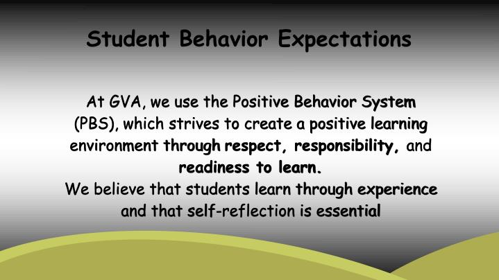 Student Behavior Expectations