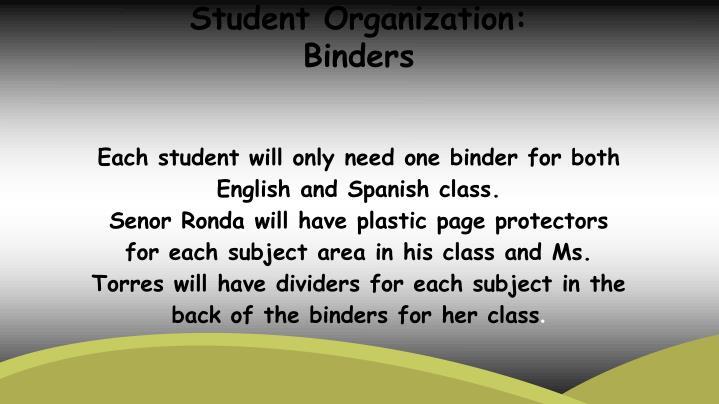 Student Organization: