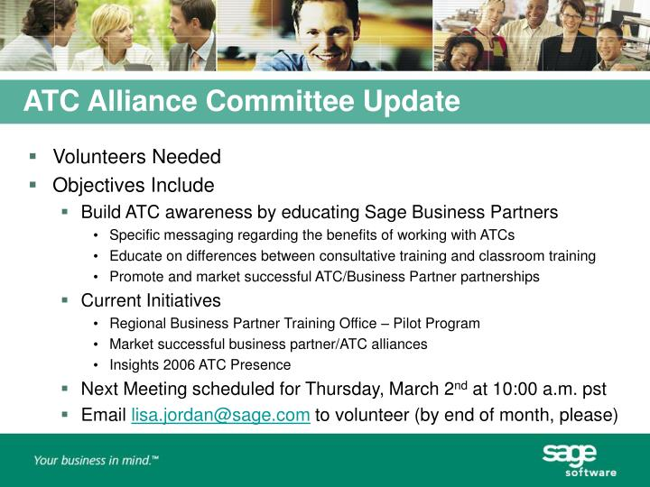 ATC Alliance Committee Update