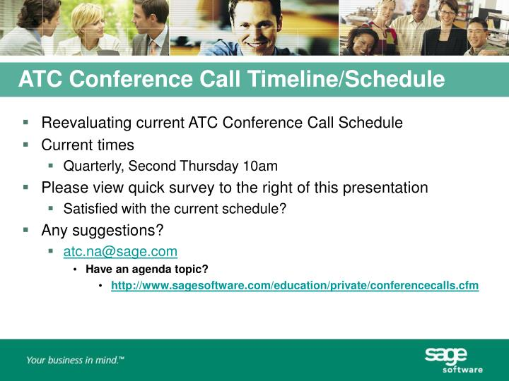 ATC Conference Call Timeline/Schedule