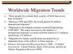 worldwide migration trends