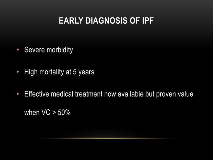 Early Diagnosis of IPF