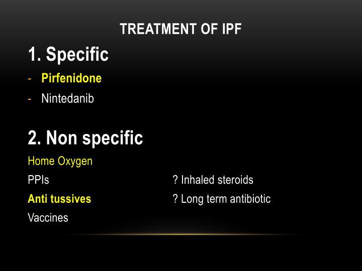 Treatment of IPF