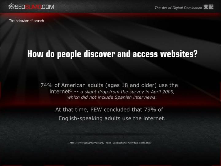 How do people discover and access websites?