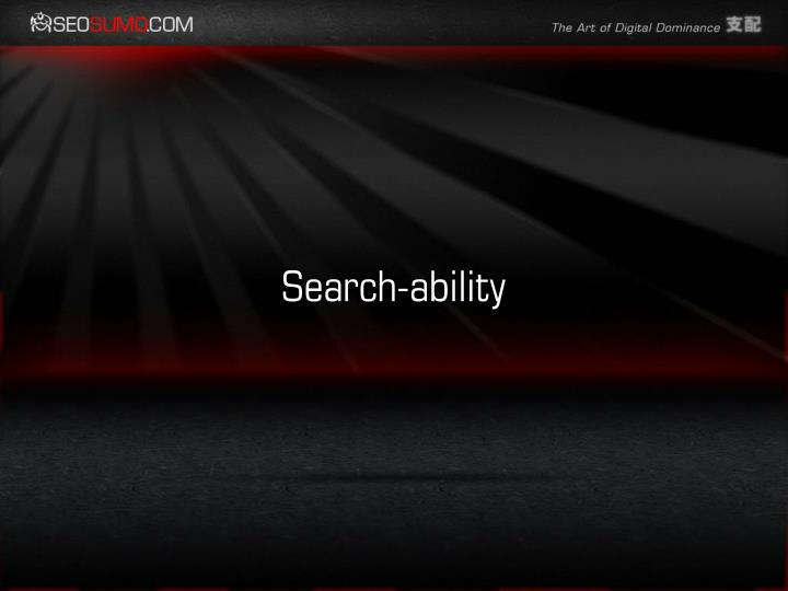 Search-ability