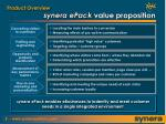 synera epack value proposition