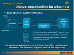 unique opportunities for ebusiness