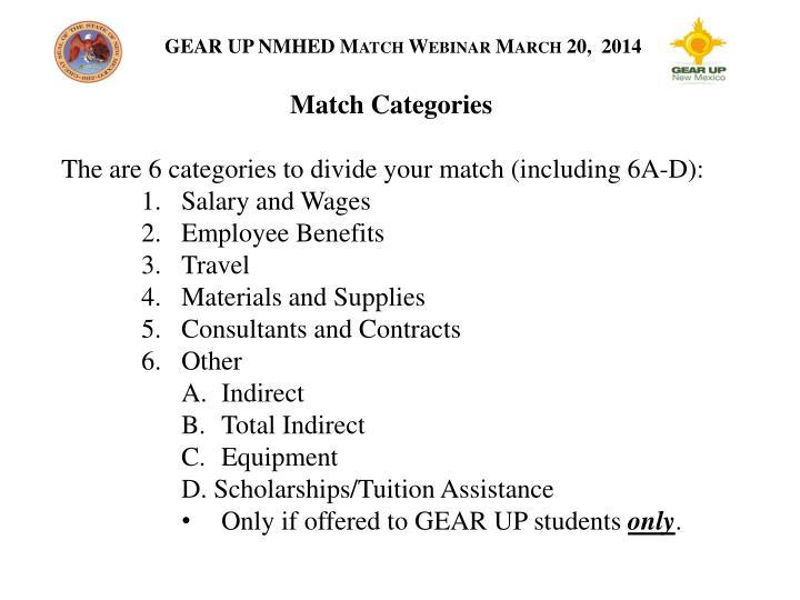 Match Categories
