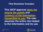 faa disclaimer includes