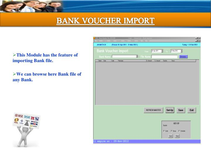BANK VOUCHER IMPORT