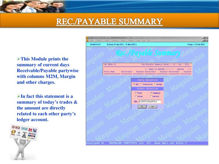REC./PAYABLE SUMMARY