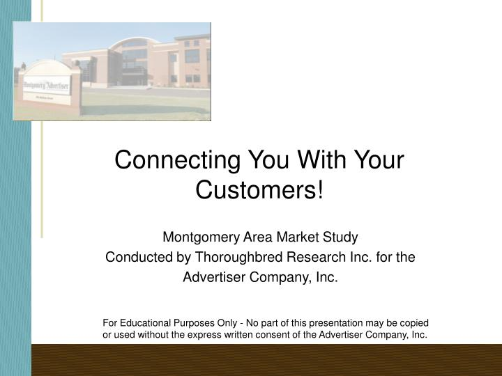 Connecting you with your customers