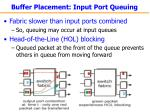 buffer placement input port queuing