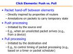 click elements push vs pull