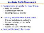 line cards traffic measurement