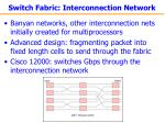 switch fabric interconnection network