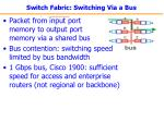 switch fabric switching via a bus