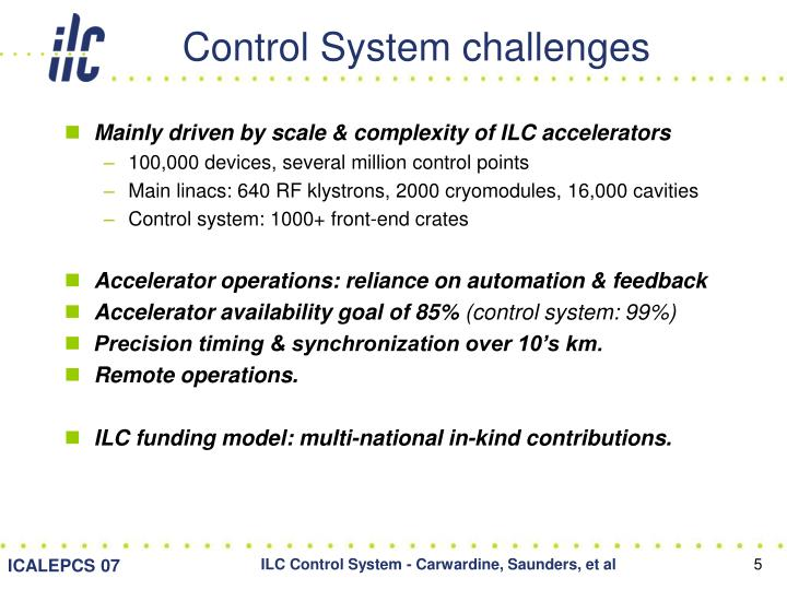 Control System challenges
