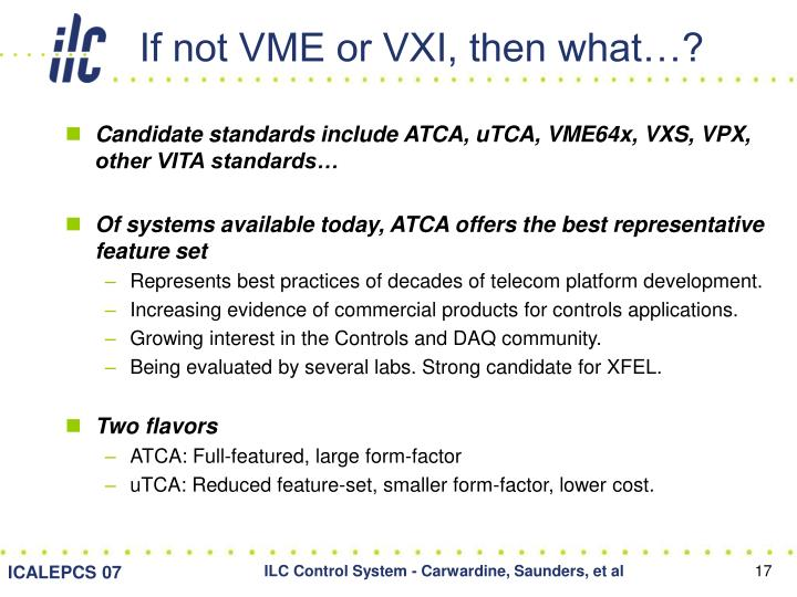 If not VME or VXI, then what…?