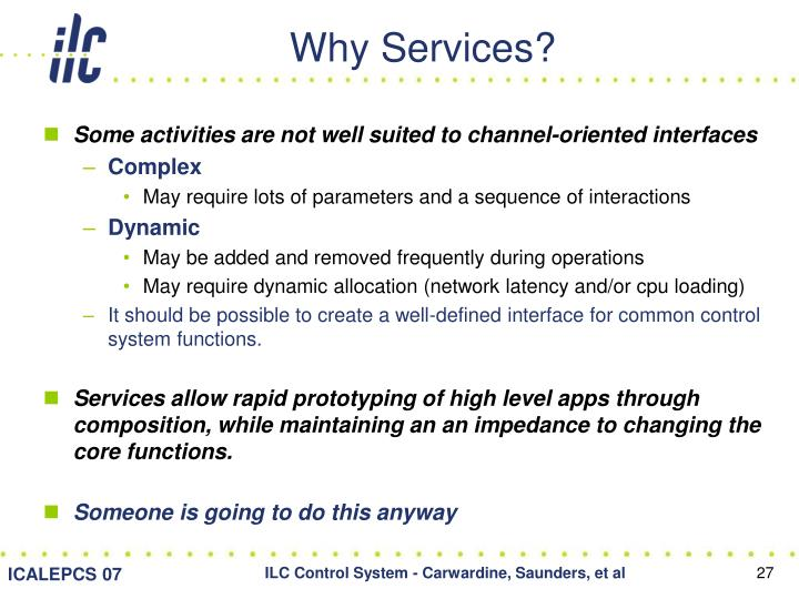Why Services?