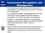 concussion recognition and management1