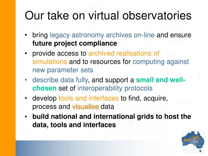 Our take on virtual observatories