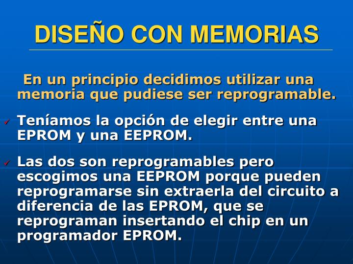 DISEÑO CON MEMORIAS