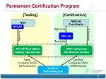 permanent certification program