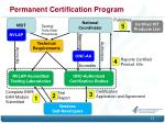 permanent certification program1