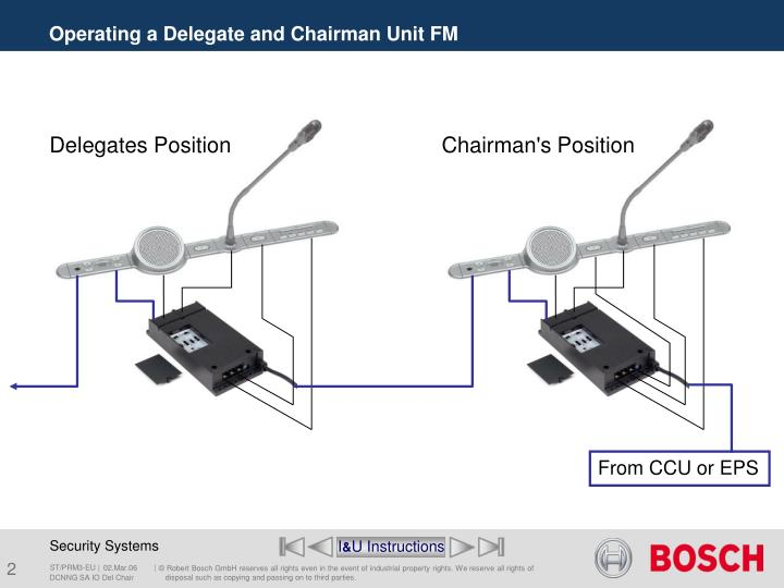 Operating a delegate and chairman unit fm