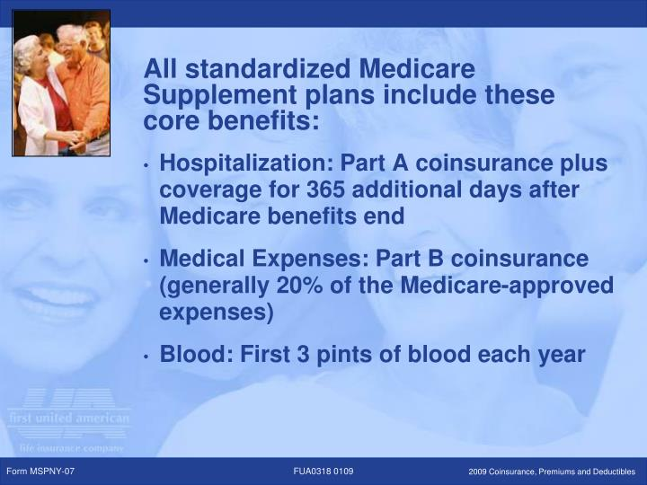 Hospitalization: Part A coinsurance plus coverage for 365 additional days after Medicare benefits end