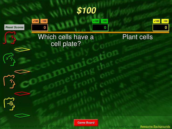 Which cells have a cell plate?