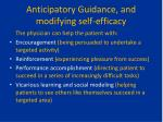 anticipatory guidance and modifying self efficacy