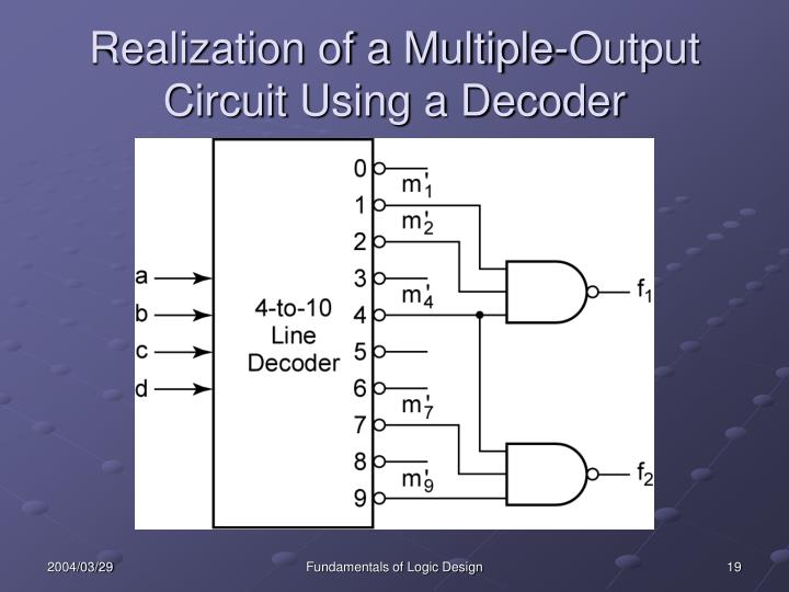 Realization of a Multiple-Output Circuit Using a Decoder