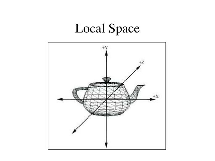 Local space