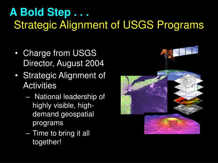 Strategic alignment of usgs programs