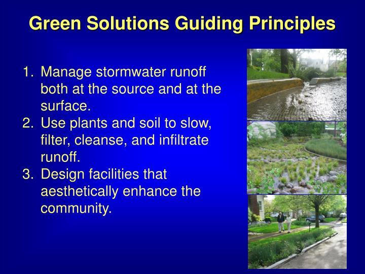 Green Solutions Guiding Principles