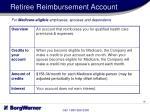 retiree reimbursement account