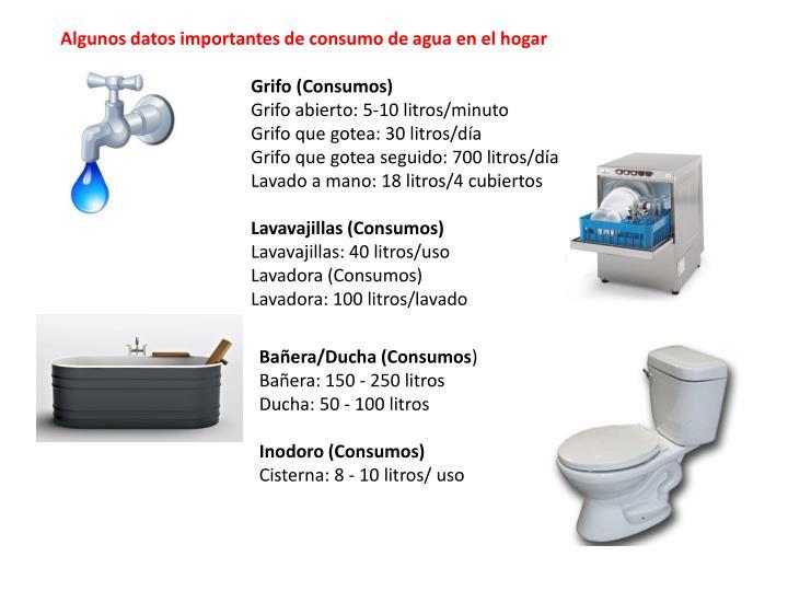 Algunos datos importantes de consumo de agua en el hogar