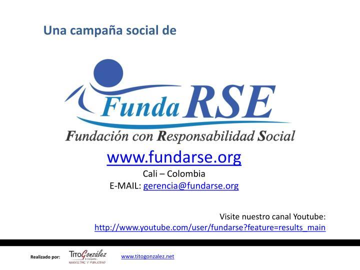 Una campaña social de