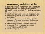 e learning oktat si h tt r