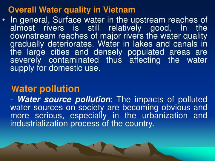 Overall Water quality in Vietnam