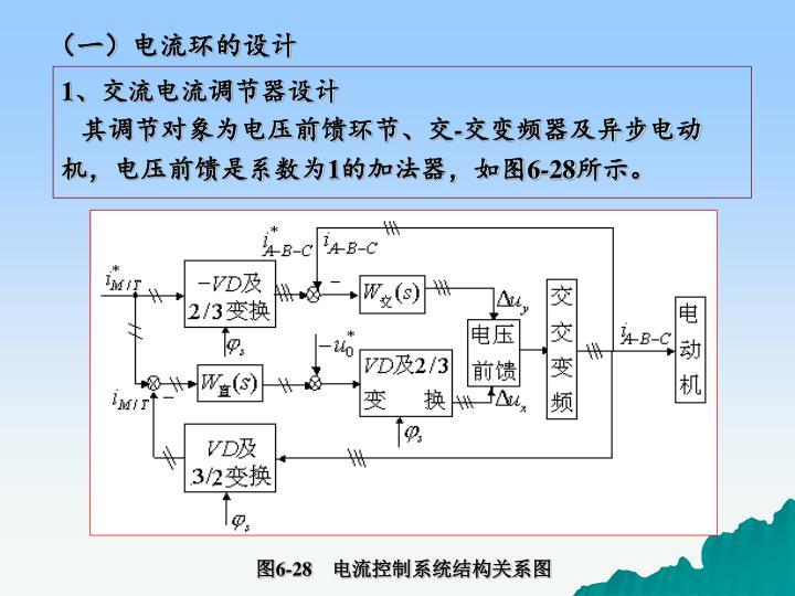 (一)电流环的设计