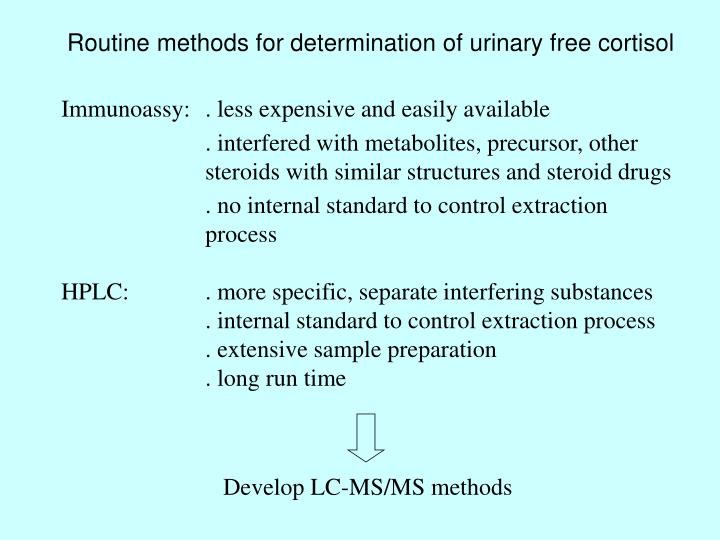 Routine methods for determination of urinary free cortisol