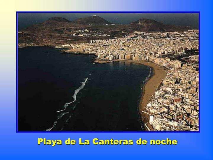 Playa de La Canteras de noche