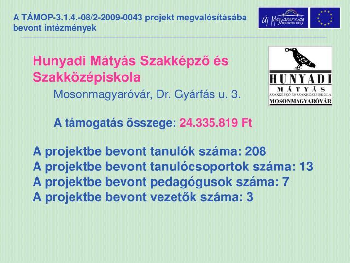 Hunyadi Mátyás Szakképző és Szakközépiskola