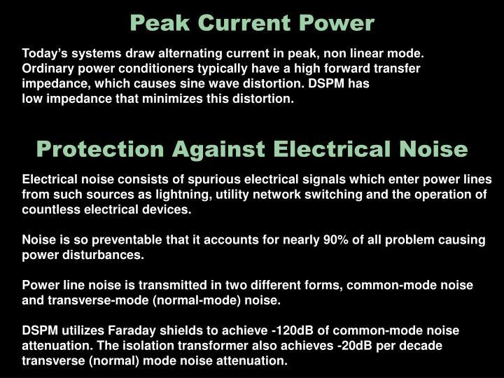 Peak current power