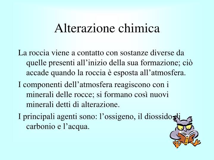 Alterazione chimica